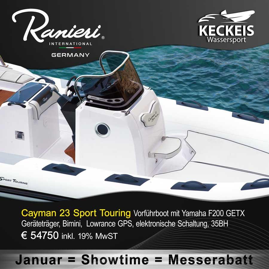 Ranieri Cayman 23 Sport Touring - Vorführboot mit Yamaha F200 GETX